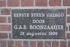 Achterbergsestraatweg 197, 1e steen Hervormde Kerk, 1909
