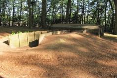 Cuneraweg, bunker en loopgraaf WOII